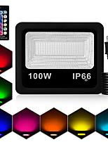 Недорогие -1шт 100 W LED прожекторы Водонепроницаемый / Дистанционно управляемый / Диммируемая RGB 85-265 V двор / Сад 180 Светодиодные бусины