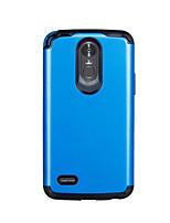 Недорогие -Кейс для Назначение LG LG StyLo 3 Защита от удара Кейс на заднюю панель Однотонный ПК / силикагель