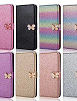 cheap -Case For Samsung Galaxy A51/M40S/A71 Wallet/Shockproof Butterfly Diamond Glitter PU Leather Case For Samsung S20 Plus / S20 Ultra/A20e/A50s/A30s/A10/A60/A70/A80/S10 Lite/S10 5G/S10 Plus/Note 10 Plus