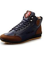Недорогие -Муж. Комфортная обувь Полиуретан Лето Ботинки Сапоги до середины икры Темно-коричневый / Синий / Коричневый