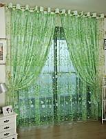 Недорогие -Листья Прозрачный 1 панель Прозрачный Гостиная   Curtains