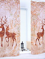 Недорогие -Животный дизайн Semi-Sheer 1 панель Занавес Мальчики   Curtains