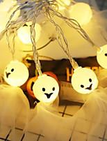Недорогие -призрак хэллоуин струнные огни 2 м 20 светодиодные милые кружева призрак для Хэллоуина хэллоуин украшения освещения 1 компл.