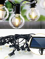 Недорогие -6м Гирлянды 25 светодиоды Тёплый белый Работает от солнечной энергии / Декоративная Солнечная энергия 1 комплект