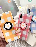 Недорогие -Кейс для Назначение Apple iPhone XS / iPhone XR / iPhone XS Max со стендом / IMD / С узором Кейс на заднюю панель Полосы / волосы / Цветы ТПУ