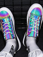 Недорогие -Муж. Комфортная обувь Полиуретан Лето Кеды Дышащий Белый / Цвет радуги