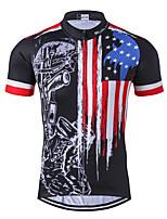 Недорогие -WEIMOSTAR Американский / США Флаги Муж. С короткими рукавами Велокофты - Черный / красный Велоспорт Джерси Верхняя часть Дышащий Влагоотводящие Быстровысыхающий Виды спорта Полиэстер Эластан Терилен