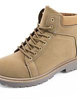 Недорогие -Муж. Армейские ботинки Замша Весна / Осень На каждый день Ботинки Для прогулок Нескользкий Черный / Хаки