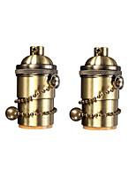 Недорогие -OYLYW 2pcs E26 / E27 85-265 V Своими руками / Аксессуары для ламп Алюминий Разъем для лампочки