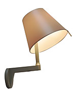 Недорогие -бра современный простой крытый роскошный бра бра круглый оттенок ткани спальня ночник свет настенный держатель головы регулируемый