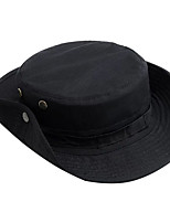 Недорогие -Муж. Классический Шляпа от солнца Хлопок,Однотонный Черный Зеленый Хаки