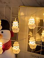 Недорогие -3м снеговик гирлянды рождественские огни 20 светодиодов теплый белый декоративный 5 в 1 комплект