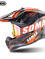 Недорогие -Зоман профессиональный шлем для мотокросса унисекс гоночный мотоцикл шлем с мотоциклом грязи mx очки sm633-sm13