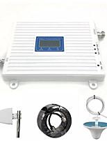 Недорогие -900 МГц 1800 МГц 2100 МГц 2G 3G 4G Мобильный трехдиапазонный повторитель сигнала телефона с антенным кабелем