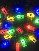 Недорогие -3 м английские буквы строковые фонари 20 светодиодов многоцветный праздник дня рождения декоративные 5 v 1 комплект