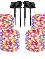 Недорогие -10 м Гирлянды 100 светодиоды 1 монтажный кронштейн Тёплый белый / RGB / Белый Водонепроницаемый / Работает от солнечной энергии / Творчество Солнечная энергия 4шт / Можно резать