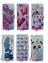 Недорогие -чехол для google pixel 4 / google pixel 4 xl кошелек / держатель карты / с подставкой для всего тела чехлы бабочка / животное / блестящий блеск искусственная кожа