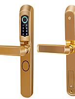 Недорогие -сломанный мост алюминиевый замок отпечатков пальцев алюминиевые раздвижные двери пластиковые стальные двери KFC дверь отпечатков пальцев замок пароль электронный замок