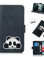 Недорогие -чехол для apple iphone xs / iphone xr / iphone xs max кошелек / держатель карты / противоударные чехлы для всего тела кожа panda для iphone 8 plus / iphone 7 plus / iphone 6s plus / iphone 8 / iphone