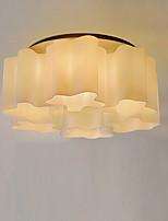 Недорогие -потолочные светильники современные простые люстры 6 светильников белый стеклянный плафон простота подвесной светильник круглый для гостиной скрытого монтажа