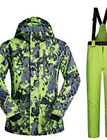 Недорогие -MUTUSNOW Муж. Лыжная куртка и брюки Водонепроницаемость С защитой от ветра Теплый Катание на лыжах Сноубординг Зимние виды спорта Полиэстер Наборы одежды Одежда для катания на лыжах