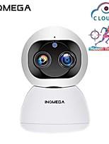 Недорогие -Облако inqmega 1080p 2-мегапиксельная беспроводная IP-камера Wi-Fi с двумя объективами, автоматическое слежение в помещении, охрана дома, видеонаблюдение, сетевая камера