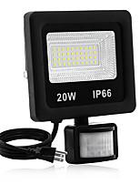 Недорогие -1шт 20 W LED прожекторы Водонепроницаемый / Новый дизайн / Монитор обнаружения движения Тёплый белый / Белый 85-265 V двор / Сад 40 Светодиодные бусины