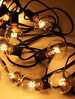 Недорогие -8м Гирлянды 25 светодиоды Тёплый белый Декоративная 220-240 V 1 комплект