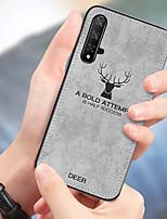 Недорогие -Ткань ткань олень чехол для телефона для huawei honor 20 pro honor 20 мягкий силиконовый тпу назад чехол