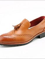 Недорогие -Муж. Комфортная обувь Полиуретан Лето Мокасины и Свитер Дышащий Черный / Желтый / Вино