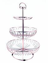 Недорогие -3 слоя из кованого железа торт подставка свадебный торт витрина фрукты сладкий розовое золото торт самолет ставится