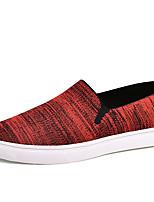 Недорогие -Муж. Комфортная обувь Полотно Лето Мокасины и Свитер Красный / Серый / на открытом воздухе