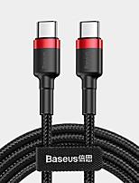 Недорогие -Type-C Кабель 1.0m (3FT) Плетение Терилен Адаптер USB-кабеля Назначение Xiaomi