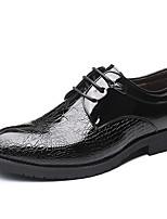 Недорогие -Муж. Официальная обувь Микроволокно Весна лето / Наступила зима Деловые / На каждый день Туфли на шнуровке Дышащий Черный