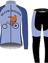 Недорогие -21Grams Животное леность Муж. Длинный рукав Велокофты и лосины - Черный / синий Велоспорт Наборы одежды Устойчивость к УФ Дышащий Влагоотводящие Виды спорта 100% полиэстер Горные велосипеды Одежда