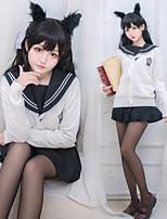 Недорогие -Вдохновлен Azur Lane Школьницы Аниме Косплэй костюмы Японский Косплей Костюмы / Косплей вершины / дна Косыночная повязка / Пальто / Кофты Назначение Жен.