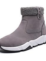 Недорогие -Муж. Fashion Boots Полиуретан Зима Спортивные Ботинки Черный / Светло-серый