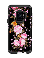 Недорогие -Кейс для Назначение SSamsung Galaxy S9 / S9 Plus Защита от удара / Защита от влаги Кейс на заднюю панель Пейзаж / Цветы ПК