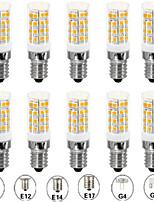 Недорогие -10 шт. 5 W LED лампы типа Корн Двухштырьковые LED лампы 500 lm E14 G9 G4 T 52 Светодиодные бусины SMD 2835 Новый дизайн Тёплый белый Белый 110-120 V