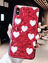 Недорогие -Кейс для Назначение Apple iPhone XS / iPhone XR / iPhone XS Max Ультратонкий / С узором Кейс на заднюю панель С сердцем / Мультипликация ТПУ