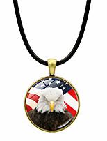Недорогие -Жен. Ожерелья с подвесками Хром Черный Бронзовый Серебряный 43+4 cm Ожерелье Бижутерия 2pcs Назначение фестиваль