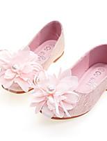 Недорогие -Девочки Удобная обувь / Детская праздничная обувь Кружева На плокой подошве Малыш (9м-4ys) / Маленькие дети (4-7 лет) Для прогулок Цветы Золотой / Белый / Розовый Весна / Осень