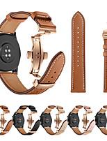 Недорогие -ремешок для часов розовое золото бабочка пряжка из натуральной кожи ремешок браслет ремень для часов Huawei GT