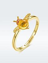Недорогие -100% стерлингового серебра 925 пробы регулируемый bee Wish кольцо женская вечеринка серебро