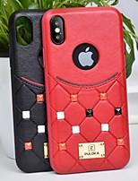 Недорогие -чехол для яблока iphone xs / iphone xr / iphone xs max противоударная задняя крышка с геометрическим рисунком искусственная кожа