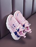 Недорогие -Мальчики Удобная обувь Сетка Спортивная обувь Большие дети (7 лет +) Беговая обувь Белый / Черный / Розовый Осень
