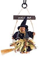 Недорогие -Хэллоуин ведьма призрак договоренности фестиваль бар украшения ужас страшно висит летающая ведьма хэллоуин летающая метла ведьма