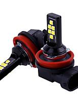 Недорогие -Автомобиль h11 / h8 светодиодные лампы автомобиля противотуманные фары вождения 12 smd 3030 светодиодные задние фонари свет автомобиля парковка 12 В авто 6000 К белый / янтарный / красный