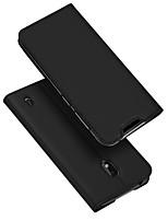 Недорогие -Кейс для Назначение Nokia Nokia 2.2 Бумажник для карт / со стендом / Флип Чехол Однотонный Кожа PU / ТПУ