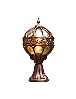 Недорогие -Водонепроницаемый светильник Coloum антикварный алюминиевый фонарь свет фонарь для gardern двор стеклянный абажур настенные светильники